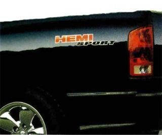 Dodge RAM Hemi Sport Decal Emblem Nameplate Mopar