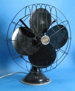 Large Diehl Art Deco 3 Speed Fan Works Great C 1940s