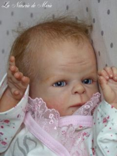 Reborn preemie baby girl, doll, PROTOTYPE Chance, Sabine Hansen