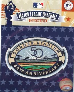 2012 Los Angeles Dodgers Dodger Stadium 50th Anniversary Logo Patch