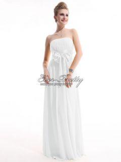 Chiffon Strapless Long Bowtie Evening Dress 09060 US Size 10