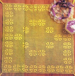 75D Crochet Pattern for Thread Filet Dresser Scarf or Doily