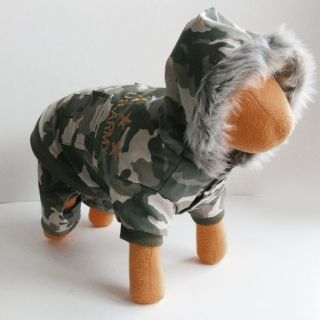 Camo Army Jacket Pants Dog Clothes Apparel Chihuahua