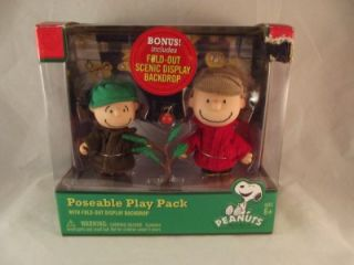 Peanuts Charlie Brown & Linus at the Christmas Tree Lot Poseable Play