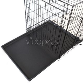36 3 Door Black Folding Dog Crate Cage Kennel Three 2