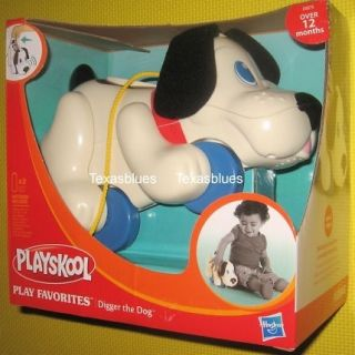 Playskool Walk N Sounds Digger Dog Pull Toy Playschool
