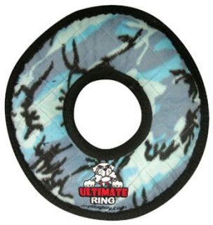 tuffy s jr ring blue camo dog toy the tuffy s jr rumble ring has three