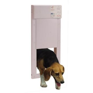 High Tech Pet Power Electronic Dog Cat Automatic Door w Wall Tunnel