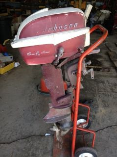Johnson Sea Horse Outboard Boat Motor 10 HP Vintage 1957