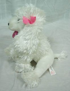 and Tales Cute White Poodle Dog 9 Plush Stuffed Animal Toy