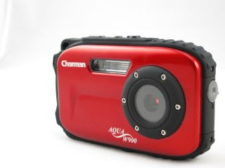 12MP Underwater Digital Camera 30ft Waterproof Red Dustproof