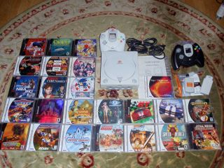 Sega Dreamcast Console Lot 23 Games Sonic Resident Evil Evolution
