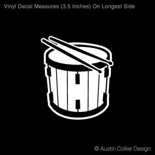 "3 5"" Marching Snare Vinyl Decal Car Sticker Band"