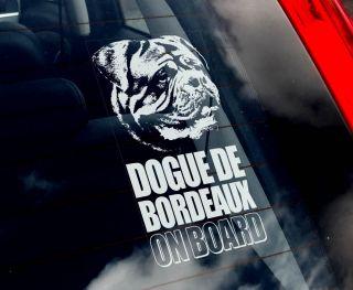 Dogue de Bordeaux Car Sticker Mastiff Dog Sign New