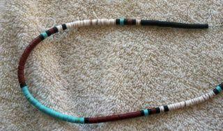 SW Santa Domingo Necklace Heshi Turquoise Onyx Pipestone