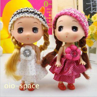 Chrysanthemum Dress Mini Doll Baby Toy Doll Charm Pendant for Kids