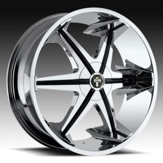 26 Dub Big Homie with Shooz Chrome Custom Wheel Set