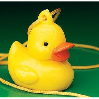 One Dozen (12) Rubber Duck Ducky NECKLACE Baby Shower & Birthday Party