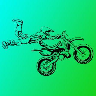 Dirt Bike Jump Superman x Art Vinyl Decal Mural Large