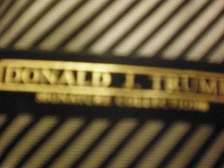 Donald Trump Signature Collection Black Striped Tie