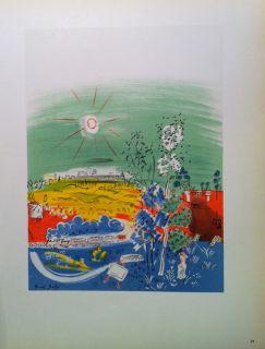 Raoul Dufy   Mourlot Lithograph   Exposition DArt Francais   1959