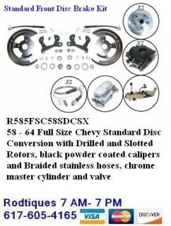 Front Wheel Standard Disc Brake Easy Install Conversion Kit 1958 1964