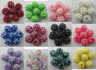 30 60pcs Beautiful Acryl Rhinestones Disco Ball Charms Beads