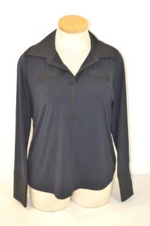 Doncaster 1W Black Navy Long Sleeve Shirt