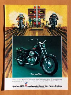 0373 1972 Harley Davidson Sportster Single Page Full Color Ad