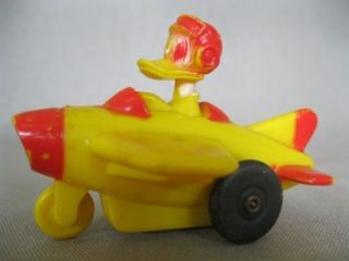 Vintage Donal Duck Friction Airplane Toy Walt Disney Productions Marx