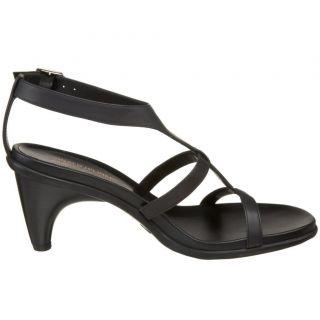 Donald J Pliner Black Patent Leather Temira 35 Sandal N/I/B, US size 8