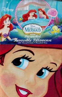 description new disney little mermaid ariel pillowcase bedding new one