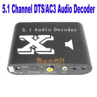 Channel AC3/DTS Audio Gear Digital Surround Sound Rush Decoder
