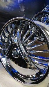 New 24 Dub Skirts Shokka S601 Floating Chrome Wheels Rims Floaters