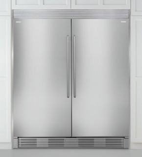 New electrolux stainless steel refrigerator freezer combo with trimkit