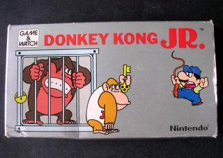 Vintage Nintendo Game Watch Donkey Kong Jr Handheld Silver Gold
