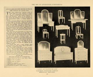 1917 Print Northern Furniture Company Sheboygan Bedroom