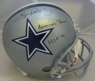 Tony Dorsett Autographed Dallas Cowboy Full Size Helmet w HOF America