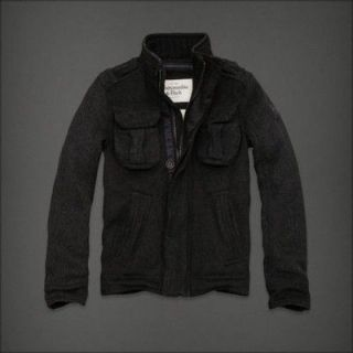 Abercrombie Fitch Dix Range Wool Jacket Dark Grey XL