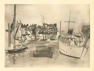 "Raoul Dufy ""Le Yacht A Deauville"""