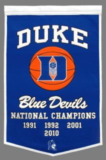 Duke Blue Devils Wool Dynasty Banner Pennant NCAA