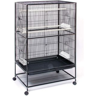 Prevue Pet Products Wrought Iron Flight Cage with Stand F040 Black New