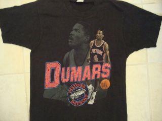 Vintage NBA Detroit Pistons Joe Dumars T Shirt L M