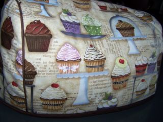 Cupcake Recipes Quilted Fabric Cover 2 Slice Toaster New