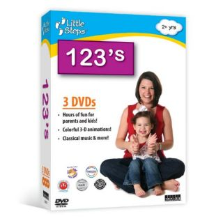 123s Counting 3 DVD Set Collection of Child Baby Learning DVD