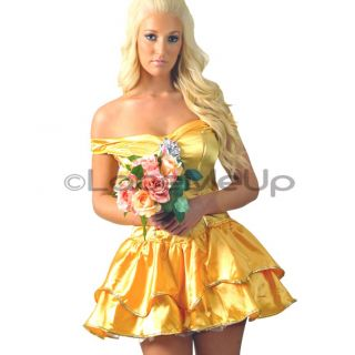 New Disney Princess Belle Costume Fancy Dress 8 10