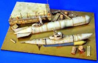 VER2483 German Dock WWII Diorama Ki 1 35 Verlinden