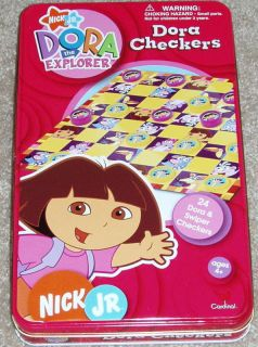 Nick Jr Dora The Explorer Checkers Game Board