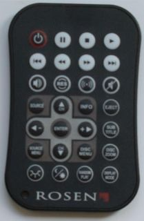 Rosen AC3205 in Car DVD Replacement Remote Control New