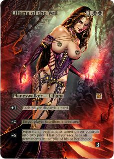 100% Authentic Original Foil Altered Art Sexy Liliana of the Veil